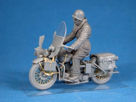 U.S. Motorcycle WLA w/Rider