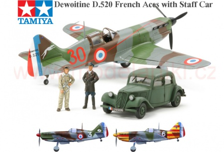 Dewoitine D.520 French Aces with Staff Car (Citroën 11CV)