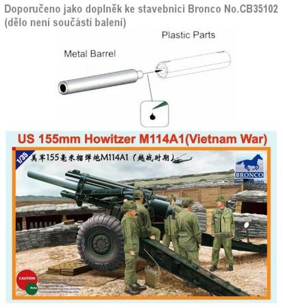 Aluminum Gun Barrel for Us 155mm Howitzer M114A1